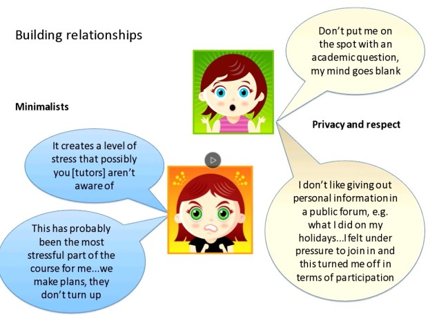 A slide from Sarah Cornelius' presentation.